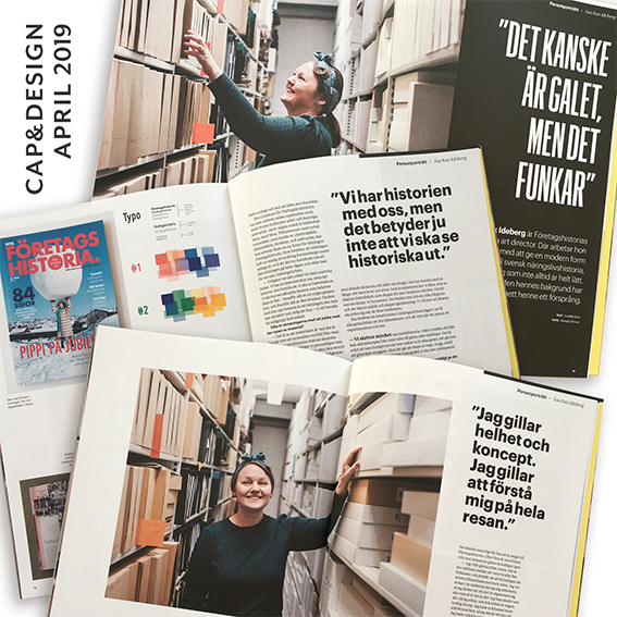 Åsa Kax i Cap&Design, april 2019.